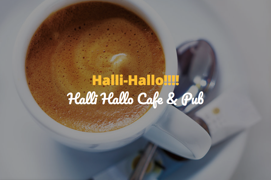 Café Pub Halli Hallo, Screenshot der Website