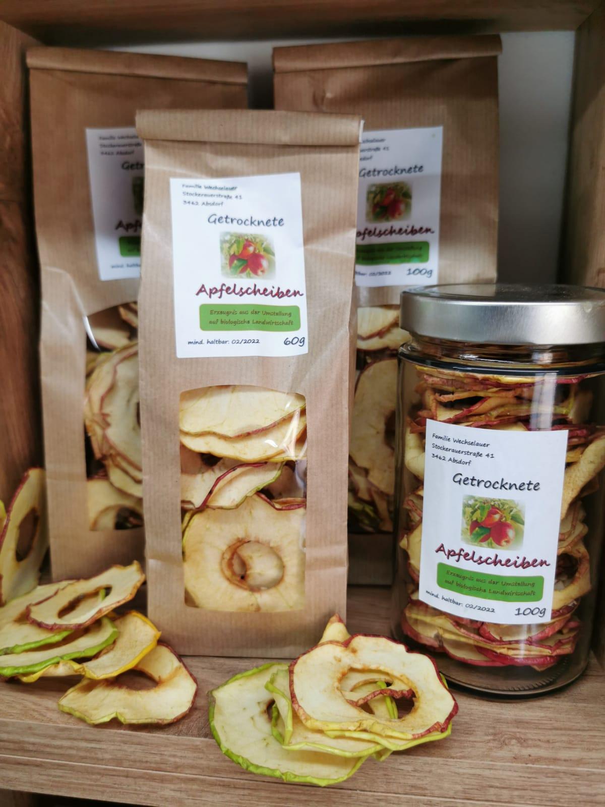 Getrocknete Bio-Apfelspalten von Familie Wechselauer